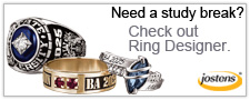 Need a study break? Check out Ring Designer. Jostens.